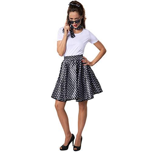 Damenkostüm Rock 'n' Roll Baby, Sexy Outfit im Stil der 50er Jahre (S | Nr. 302135) ()