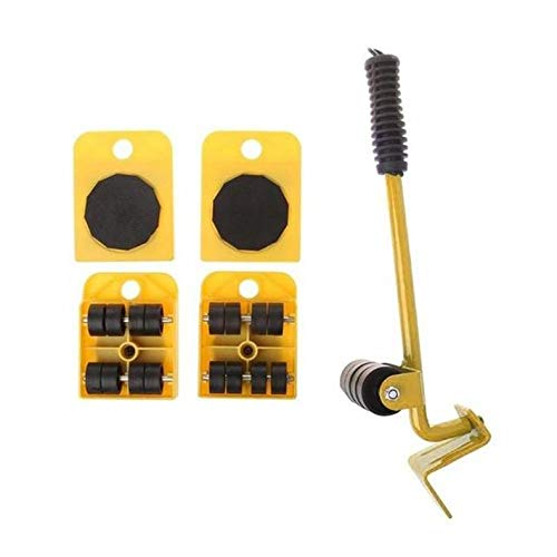 Jacobden Möbel Lifter leicht bewegen Sliders 5 Pack Mover Tool Set Schwere Möbel Appliance Moving & System Transport