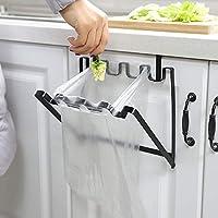 Hanging Kitchen Cabinet Door Trash Rack Towel Storage Garbage Rag Bags Holder