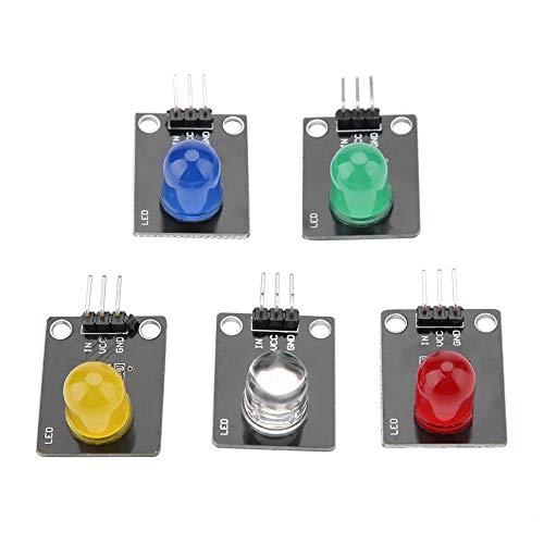 F10 5 Farben Digital LED Modul Leuchtanzeige Diode 10mm 3,3-5V für Arduino, Rotes Gelb Blau Grün Weiß Dioden-modul