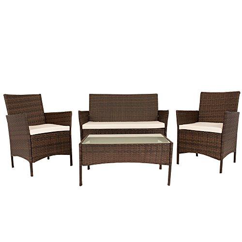 Gartenmöbel Set Ausziehbar Cravog Polyrattan Garten Tisch Und Stuhl