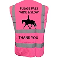 Hi Vis Viz High Visibility Reflective Vest Horse Riding Equestrian Safety Vest