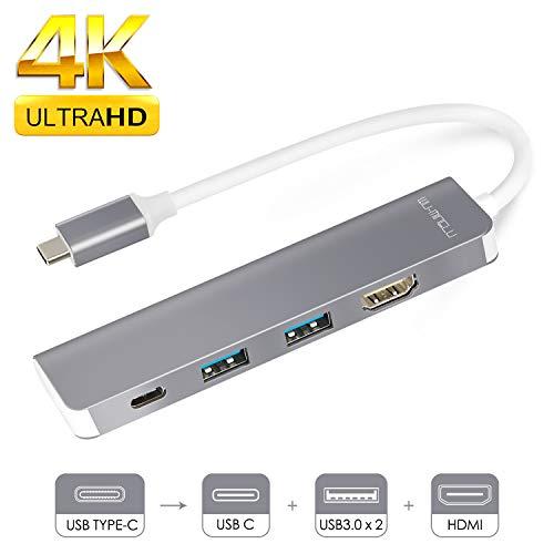WU-MINGLU USB C Hub Dex Station,Typ C zu 4k HDMI Adapter USB 3.0 Power Delivery Kompatibel mit Samsung S8/S8+/S9/S9+/Note8,MacBook/MacBook Pro und Thunderbolt 3 Geräte Adapter Power Station