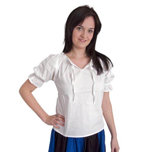 Elbenwald Luisa - Bluse mit Spitze - S (Historische Frauen Kostüm)