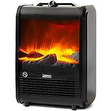 NEWTECK Calefactor Eléctrico Chimney Termoventilador, 1500W, Estufa Cerámica Efecto Chimenea Portátil Bajo Consumo,