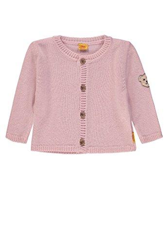 Steiff Baby-Mädchen Strickjacke 1/1 Arm, Rosa (Barely Pink|Rose 2560), 86