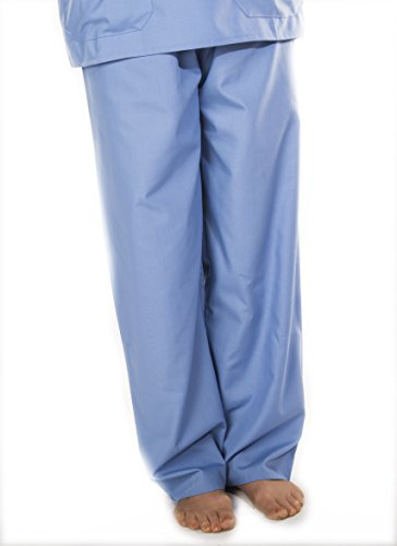 Solice. Medical Scrubs. Tunika & Pants Set, Krankenhaus, Ärzte, Workwear, Uniform, Unisex, Grün, Marine, blau, Größen XS, Small, Medium, Large, XL, XXL Gr. Medium, blau - 3