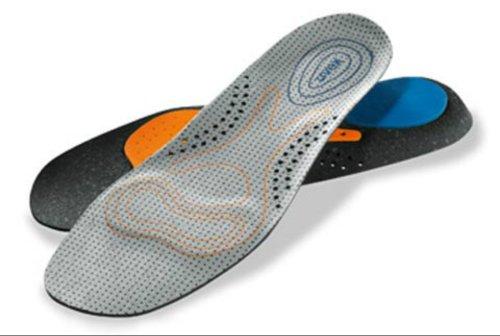 Uvex 3D Hydroflex® Einlagen. Ultra Atmungsaktiv. Ideal für Gummistiefel, Arbeit Stiefel Etc, Grau - Grau - Größe: 41.5