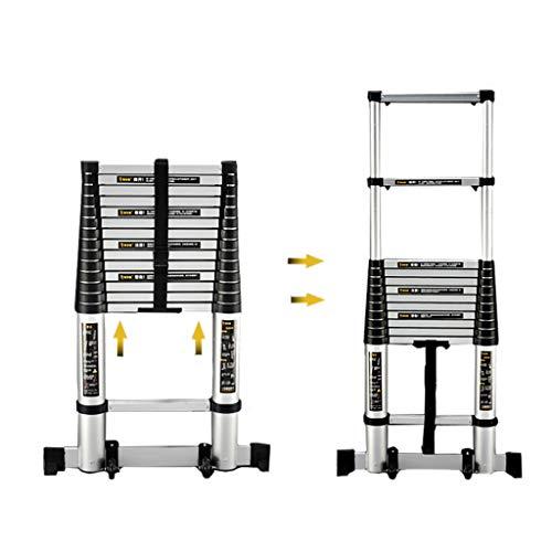 Leiter CXLO Aluminum Soft Close Teleskopleiter inkl. - in 200cm/260cm/320cm/380cm/410cm/440cm - Mehrzweckleiter - Stehleiter - Aluminiumleiter Schiebeleiter - Aluleiter