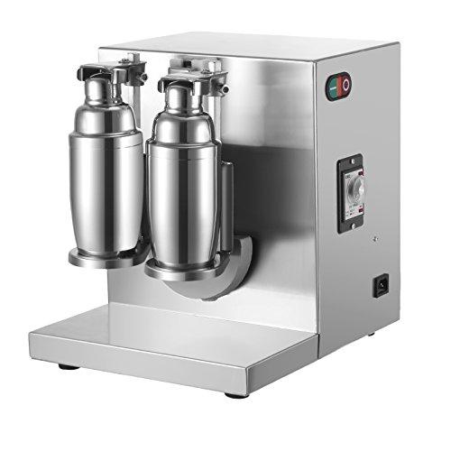 OrangeA Milk Tea Shaker Double Frame Milk Tea Shaking Machine 400r/min Stainless Steel Auto Tea Milk Making Machine for Boba Milk Tea