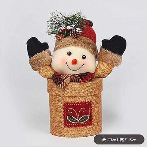 Cajas de regalo de Navidad de lujo caja con Candy Eva Apple ,elevar el muñeco de nieve 20*9,5 cm
