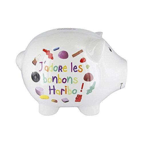 AC-Déco Tirelire J'adore Les Bonbons - Haribo - Blanc