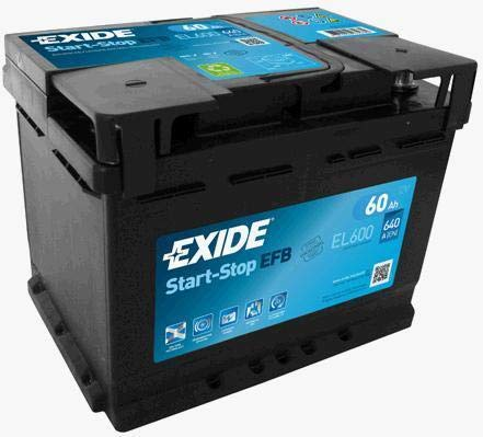 12V 60Ah 640CCA Exide EL600stop Start Efb batteria auto-3anni di garanz