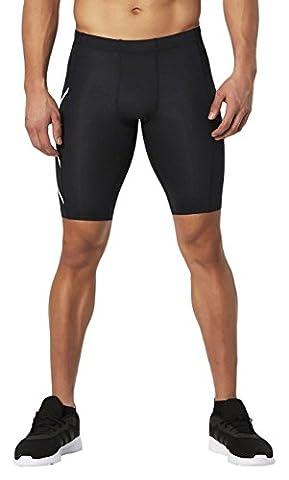 2x u Herren Core Compression Shorts Medium schwarz / weiß
