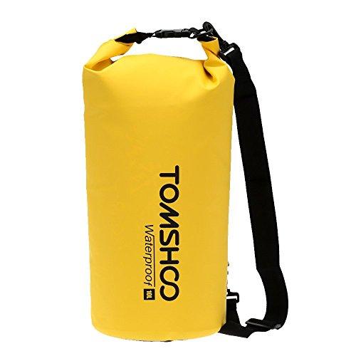 TOMSHOO Bolsas Estancas 10L/20L Bolsa Seca para Viajar Rafting Navegación Kayak Canotaje Camping Snowboard