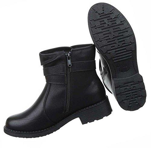 98bc78588daa Damen Boots Schuhe Stiefeletten In Used Optik Schwarz Grau Braun 36 37 38  39 40 41 ...