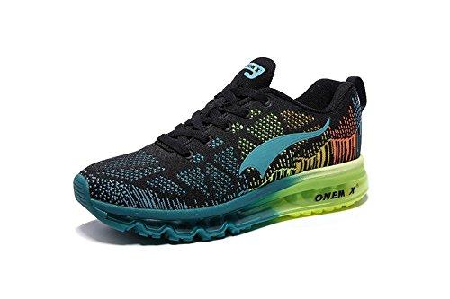 onemix Paar Sportschuhe Männer und Frauen Schuhe Turnschuhe Kissen Laufschuhe leichte atmungsaktive Polsterung Frühling und Sommer (45, Blau) (Neue Air Jordan Turnschuhe)