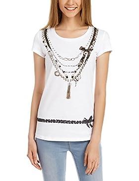 oodji Ultra Mujer Camiseta con Estampado