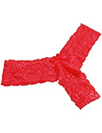 Yosemite mujeres Lace Slip transpirable tanga escritos tangas bragas ropa interior de Baja Altura, mujer, rojo, talla…