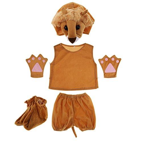 MagiDeal Kinder Tier Kostüm - (Löwen Kostüm Für Kinder)