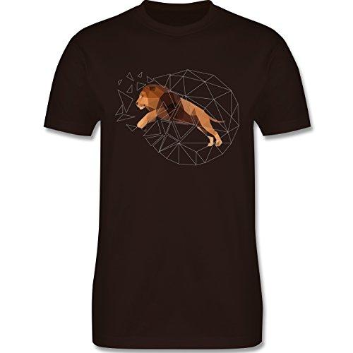 Sonstige Tiere - Freiheit Löwe - Herren Premium T-Shirt Braun