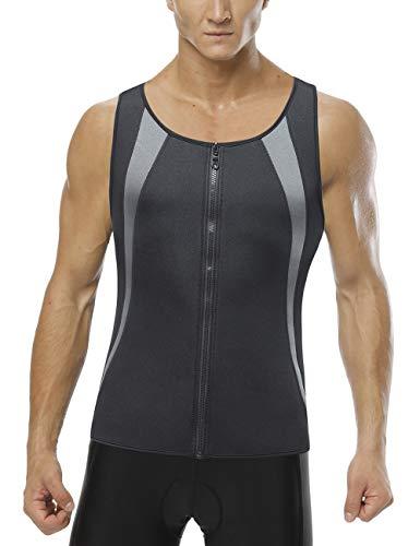Thermische Läuft Top (amatorial Men es Zipper Taillen Trainer Vest Neoprene Slimming Korsett Body Shaper Sauna Sweat passt Gewichtsverlust Tank Top)