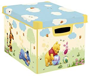Curver 180810 Disney Décor Winnie Jaune Boîte Déco 25 L Jaune