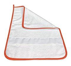 Idea Regalo - ASCIUGAMANO FRED ASILO bordato in TINTA UNITA con tela AIDA per ricamare il nome - Arancio