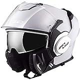 LS2 Casque moto VALIANT Blanc - L, Blanc, Taille L