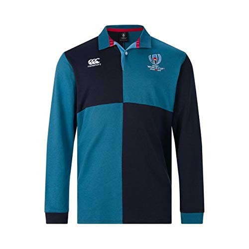 Canterbury of New Zealand Men's Rugby World Cup 2019 Cotton Polo Shirt, Navy Blazer, 2XL - Canterbury Of New Zealand Rugby