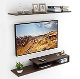 Bluewud Kunsua TV Entertainment Unit/Wall Set Top Box Stand Shelf (Large Wenge)