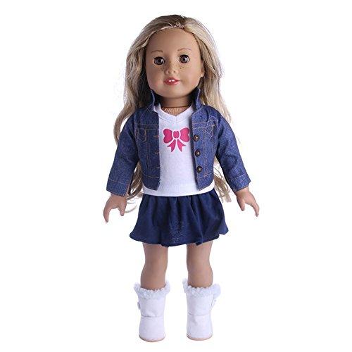 LanLan Puppen Bekleidung 18 Zoll Doll's Suit Mantel / Weste + T Shirt + Rock Puppe Kleid Zubeh?r Kleidung Serie (Nicht Enthalten Schuhe) Wir Verkaufen Nur Gl¨¹cklich f¨¹r Kinder n1338