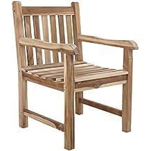 amazon.fr : chaise en bois avec accoudoir - Chaise Fauteuil Avec Accoudoir