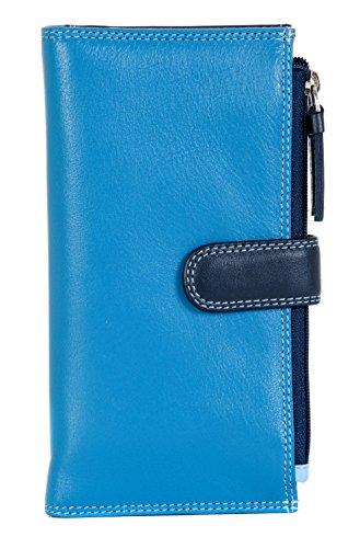 Portafoglio Da Donna Della Visconti In 3 Colori Morbida Pelle Con 17 Sezioni Per Carte Di Credito, RB-100 NEW IN! Blu Multicolore