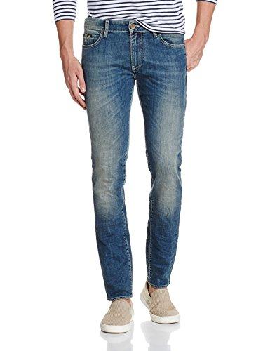 GAS Sax Zip, Jeans Uomo, Blu, 32