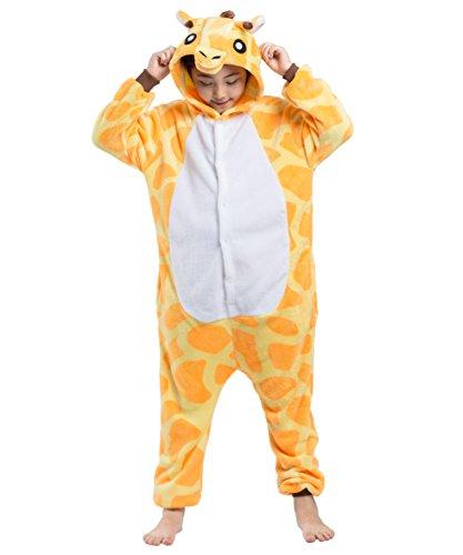 Akaayuko bambini unisex onesies kigurumi giraffa animale pigiama