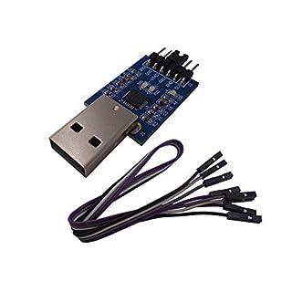 DSD TECH USB zu TTL Seriell Konverter CP2102 mit 4 PIN Dupont Kabel Kompatibel mit Windows 7,8,10, Linux, Mac OS