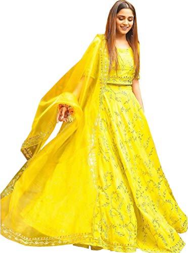 9c4d774fa6 ShreeBalaji women\'s Embroidered multi colour Semi Stitched lehengas, lehenga  choli