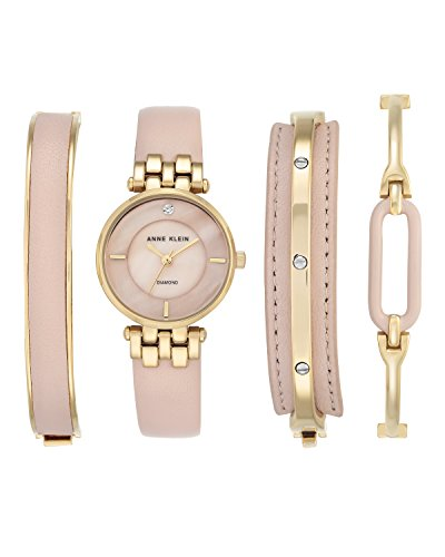 anne-klein-womens-charlotte-quartz-watch-with-mother-of-pearl-dial-analogue-display-and-pink-leather