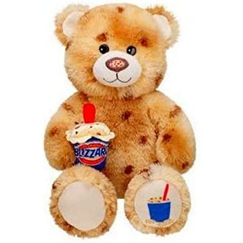 2011 Retired Build a Bear Workshop Cookie Dough DQ Dairy Queen Blizzard Ice Cream Unstuffed Teddy with Accessory Plush Toy Animal by Build A Bear