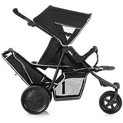 Hauck Freerider - Silla de paseo doble (3 ruedas, sillas desmontables)