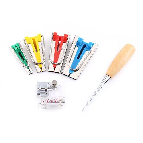 Bias Tape Maker Kit 6/12/18/25mm Binding Werkzeug Guide Strip Sewing Quilting 6PCS -