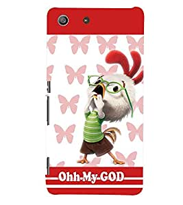 PRINTSWAG CARTOON HEN Designer Back Cover Case for SONY XPERIA M5 DUAL