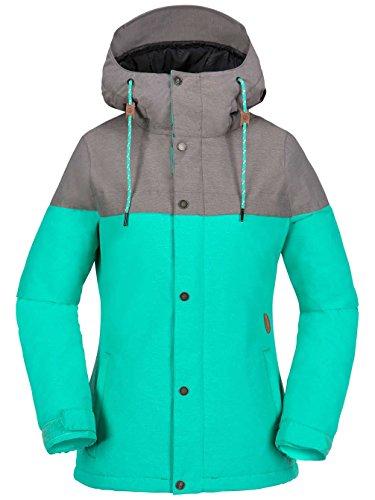 Volcom Damen Bolt Ins Jkt Snowboardjacke, Teal Green, XS Teal Ski-jacke Für Frauen