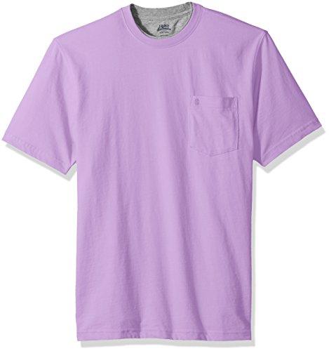 IZOD Men's Doubler Crew Neck Solid Short Sleeve Tee, Sheer Lilac, Small