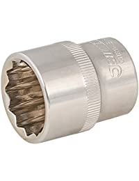 Silverline Tools 519965 Socket 1/2 Drive 12pt Metric 23mm, Silver, 23 mm, Set of 12