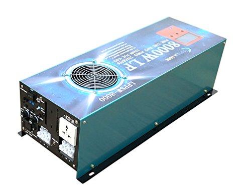 8.0 8000W Spannungswandler reiner SINUS Wechselrichter power inverter DC 12V bis AC 230V 120A Ladegerät Funktion, ATS-Funktion, Stromrichter,UPS