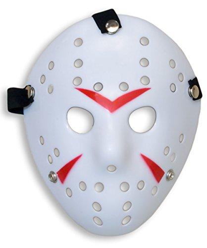HOMETOOLS.EU - Halloween Maske | Kostüm Horror Hockey Myers Maske | WHITE