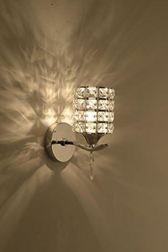 SUHANG Lampade da da da parete Crystal Lampada Da Parete Hotel Soggiorno Appartamento Balcone Corridoi Corridoi, Unico Punto Di argentoo 04326c