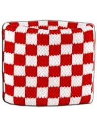 Digni® Poignet éponge avec drapeau Damier Rouge-Blanc
